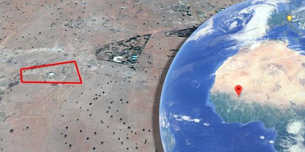 vista aerea Mali dove si trova area