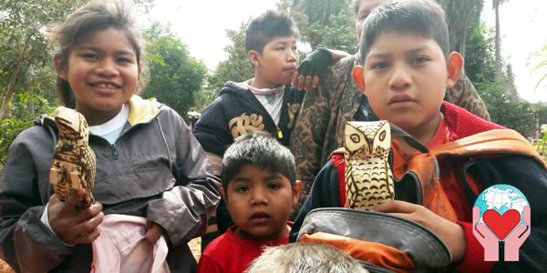 Bambini ava guarani in Paraguay