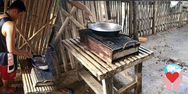 vecchia cucina nella baracca