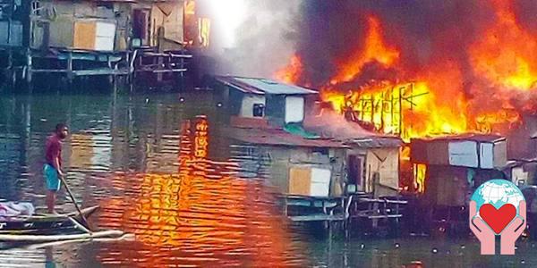 aiuto poveri covid e incendio devastante