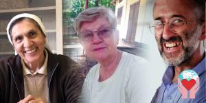 nobel a sua suora, a missionario laico e al religioso della missione Belem
