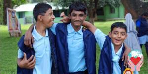 disabili del Centro Maria Sadan per giovani con handicap di Bangalore