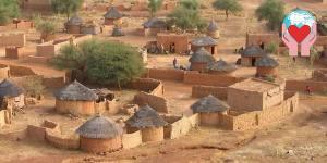 villaggio burkina faso per aiuti umanitari