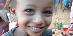 Una bambina eritrea