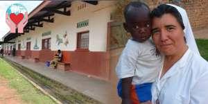 Madre Marcela con un bambino povero