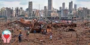 Esplosione Beirut devastata
