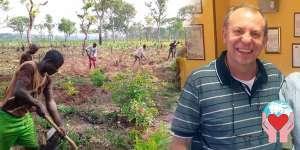 Missionario in Ciad presso istituto agrario