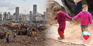 esplosione Beirut bambini sfollati
