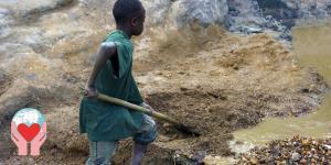 Bambini minatori sfruttati Congo